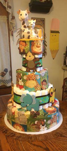 32 Trendy Baby Shower Ides For Boys Jungle Safari Diaper Cakes Baby Shower Diapers, Baby Shower Cakes, Baby Shower Gifts, Baby Gifts, Safari Diaper Cakes, Diaper Cake Boy, Baby Shower Decorations For Boys, Boy Baby Shower Themes, Jungle Theme Baby Shower