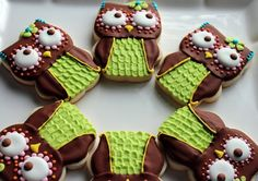 What a Hoot, Owl Cookies  From a Hello Kitty cookie cutter!  @Nici Cimbalo-Dolnick