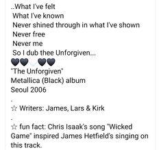 Metallica Black Album, Chris Isaak, Wicked Game, James Hetfield, Growing Up, Fun Facts, Singing, Writer