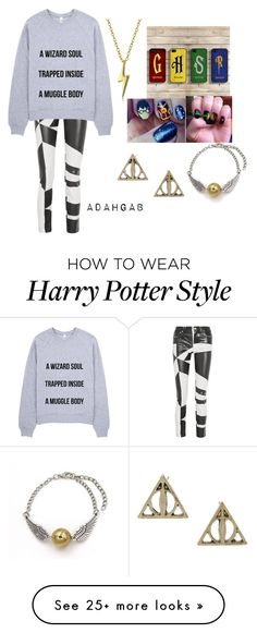 Harry Potter is My Life by adahgab on Polyvore featuring Versus, Bling Jewelry, womens clothing, women, female, woman, misses and juniors Women's Jewelry - http://amzn.to/2j8unq8