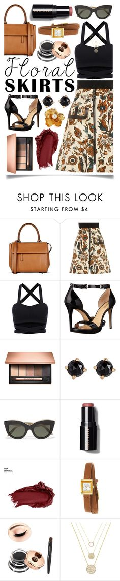 """The Perfect Summer Floral Skirt"" by ittie-kittie on Polyvore featuring Barbara Bui, Louis Vuitton, MICHAEL Michael Kors, Clarins, Irene Neuwirth, Victoria Beckham, Bobbi Brown Cosmetics, Urban Decay, Gucci and Olivia Welles"