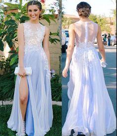 Pd61032 Charming Prom Dress,Chiffon Prom Dress,Appliques Prom Dress,A-Line Evening Dress