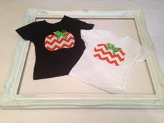 ChevronPumpkin Applique Tee by HLNBoutique on Etsy, $15.00