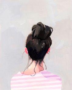 Lottie Loves...: For The Wall >> Top Knot Paintings
