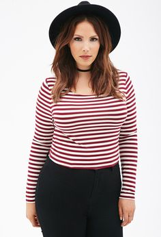 Striped Crop Top - Tops - 2000117727 - Forever 21 UK