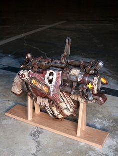 Gears of War 3 Digger Launcher by Kronos Props Clayton Carmine, Gears Of War 3, Steampunk Gadgets, Prop Making, Paint Schemes, Dieselpunk, Steampunk Fashion, Cool Bikes, Victorian Era