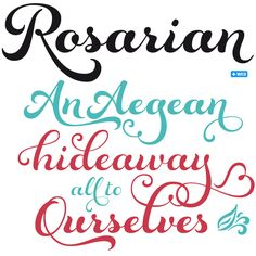 Rosarian could well be Laura Worthington's most sensuous font — words like voluptuous come to mind. Its hand-made basis is lettering done with a pointed brush — a craft that Worthington revels and excels in. #fonts #type