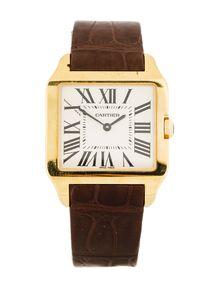6fca962df22 Cartier Santos Dumont 18K Gold Watch w  Tags Cartier Santos