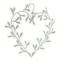 mistletoe heart wreath II