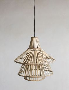 We love the bamboo texture of this conical pendant lamp shade. A simple way of adding texture to your home, the beautiful detail of this lamp shade will add interest to any room. Chandeliers, Pendant Lighting Bedroom, Pendant Lamps, Bamboo Texture, Bamboo Lamp, Bamboo Pendant Light, Bamboo Light, Bamboo Shades, Contemporary Pendant Lights