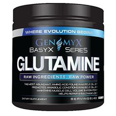Genomyx Glutamine Unflavored 40/Srv Amino Acid Supplements, Amino Acids, Evolution, Conditioner, Muscle, Powder, Projects, Log Projects, Face Powder
