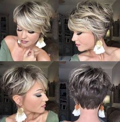 Hair Beauty - charming short ombre hairstyles ideas for women 7 hairstyle fashion shorthairstyle < moeshouse Short Hair With Layers, Short Hair Cuts For Women, Short Hairstyles For Women, Pixie Hairstyles, Short Stacked Hair, Cuts For Thick Hair, Bob Hairstyles For Thick Hair, Short Blonde Haircuts, Long Hairstyle
