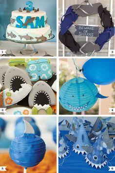 Shark Party Ideas Boy Birthday Parties Birthday Party Themes