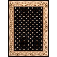 Barclay Hudson Terrace Border Black Area Rug