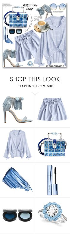 """""""Gathered Plaid  Blouse and Shorts (Casual Chic)"""" by jecakns ❤ liked on Polyvore featuring Dolce&Gabbana, Sisley, Estée Lauder, Allurez and Marc by Marc Jacobs"""