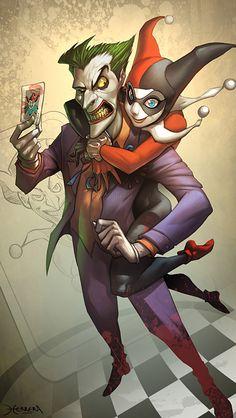 Joker and Harley | Illustration Art | The Design Inspiration