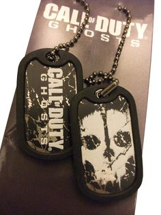 Dog Tags Call Of Duty Ghosts Logo et Ghostface - 9,99€ - #Logostore