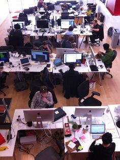 """The Pinterest Team on March 7th 2012 by kentbrew via flickr """"Someday we will look back and say: Remember when Pinterest all fit in one room?"""""""