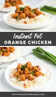 Instant Pot Orange Chicken Recipe from Family Fresh Meals #familyfreshmeals #instantpot #orangechicken #instantpotchickenrecipe #instantpotchicken #easyrecipe #pressurecooker #copycat