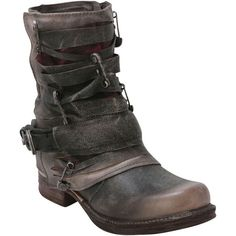 Buy Grey Black Women's 717221 Ankle Boot shoes - womens shoes and sandals, designer womens shoes, buy shoes womens Grey Ankle Boots, Ankle Booties, Bootie Boots, Black Boots, Mens Fashion Shoes, Fashion Boots, Botines Boho, Steampunk Accessoires, Fold Over Boots