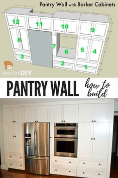 Let Me Show You How I Made A Stopping Pantry Wall Using 12 Barker Cabinets