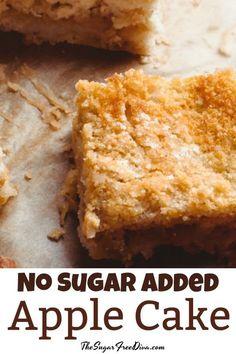 Make an apple cake with no added sugar. This is the recipe for a delicious No Sugar Added Apple Cake that you will love to eat. Diabetic Desserts, Healthy Snacks For Diabetics, Sugar Free Desserts, Sugar Free Recipes, Diabetic Recipes, Cakes For Diabetics, Apple Recipes For Diabetics, Diabetic Snacks Type 2, No Sugar Snacks