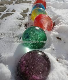 Outdoor Craft Idea...ik its in april but theres been snow in april b4 an i figure if theres a walkway we can line it? :}   @Brittany Brown