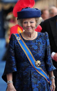 Princess (former Queen) Beatrix at her son's Inauguration.