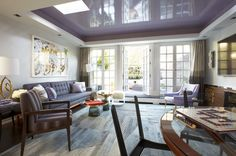 Lacquered Lavender ceiling