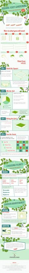 How to Build a Square Foot Garden, garden-things