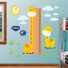Giraffe Growth Chart - General Kids Graphics - General Graphics