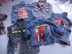 2013 - Mini Magpie new customised denim jackets hot off the machine! minimagpie.com