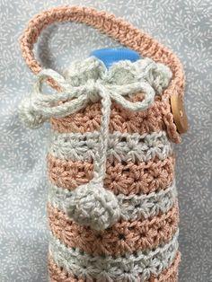 かぎ針編み スタークロッシェを筒に編んでペットボトルカバーを作りました