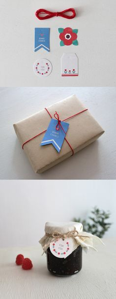 Tis' the season to wrap gifts with these adorable gift tags (string included too)!