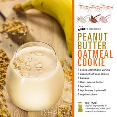 Peanut butter Oatmeal cookie smoothie... YUM!