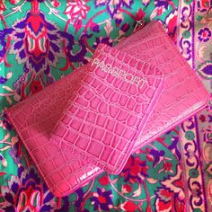 Unifly fuchsia pink travel clutch wallet and passport cover