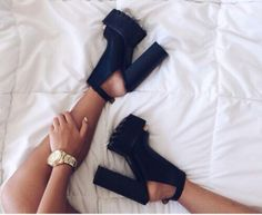 2900860140f shoes high high heels chunky platform shoes cleated sole balck platform  high heels Cute Shoes