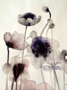 Anemones by Lourdes Sanchez Abstract Watercolor, Watercolor And Ink, Watercolor Flowers, Watercolor Paintings, Abstract Art, Flowers Wallpaper, Poster Photo, Botanical Art, Flower Art