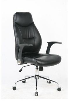 PU seat and back, chrome base. Available in black.