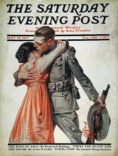 Saturday Evening Post possibly by Joseph Christian Leyendecker (1874-1951)