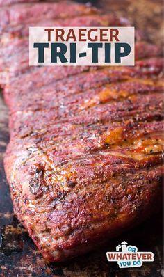 Tri Tip Smoker Recipes, Traeger Smoker Recipes, Pellet Grill Recipes, Smoked Meat Recipes, Barbecue Recipes, Grilling Recipes, Traeger Bbq, Grilling Tips, Meat Recipes