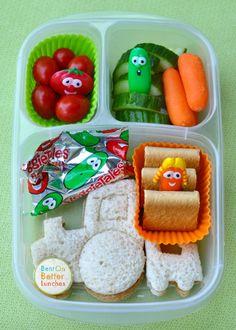 ♫ Veggie Tales! ♪ bento school lunch in EasyLunchboxes