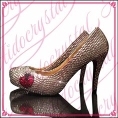188.00$  Watch now - http://alivvh.worldwells.pw/go.php?t=32778826389 - Aidocrystal Sparkling High Heel Pump Stiletto Bling Silver Diamante Crystal Shoes cute comfortable low heel shoes for bridal