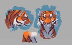 Сообщество иллюстраторов / Иллюстрации / Great Mantis / amur tiger