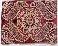 Cushion Cover (Yastik)    Object Name:      Cushion cover  Date:      17th century  Geography:      Turkey, probably Istanbul  Medium:      Silk, cotton, and metal wrapped thread; cut and voided velvet, brocaded.