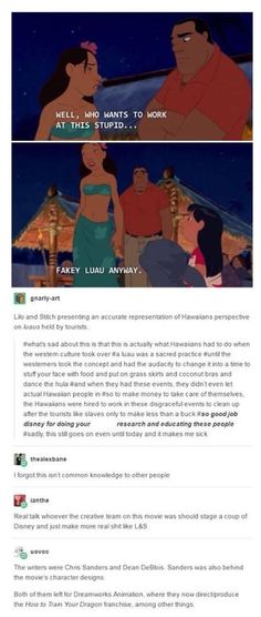 In case you were wondering where the Lilo and Stitch team went, they went to DreamWorks after Disney shut them down. Disney Pixar, Disney Memes, Disney And Dreamworks, Disney Animation, Walt Disney, Disney Facts, Dc Movies, Movie Tv, Films