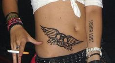 Aerosmith tattoo.  IDK about the placement or size, but the wings are perfect!