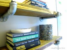 floating pipe shelves
