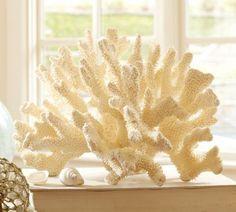 faux prickly white coral $99.00