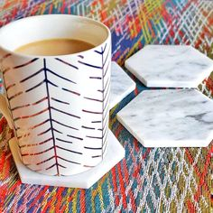 Just some pretty colors this morning 🌄 ☕ Modern Coasters, Cheers, Ink, Mugs, Tableware, Pretty, Color, Instagram, Dinnerware